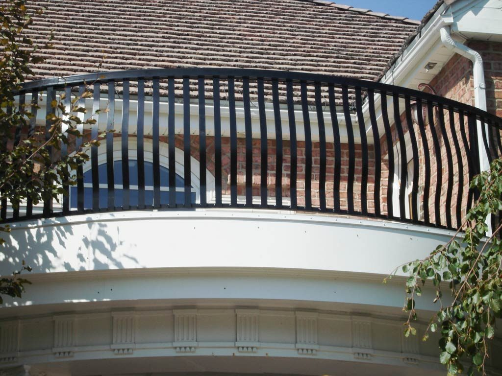 Curved Black Picket Railing Pacific View Windows And Doors