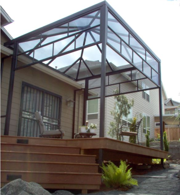 attached deck pergola in victoria bc