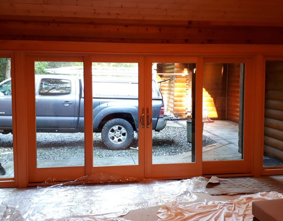 patio doors inside view